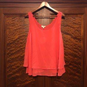 NWT Umgee coral tank top/blouse size large